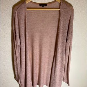 Ambiance Long  Open Cardigan Pink Size:S